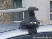 Багажник на крышу на Toyota Auris E150 2006-12, Атлант, крыловидные аэродуги