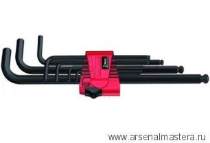 Набор Г-образных ключей для винтов с внутренним шестигранником, метрических, BlackLaser WERA 950 PKL/9 BM N