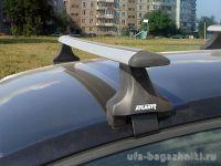 Багажник на крышу Toyota Auris E180 2012-..., Атлант, крыловидные аэродуги, опора Е