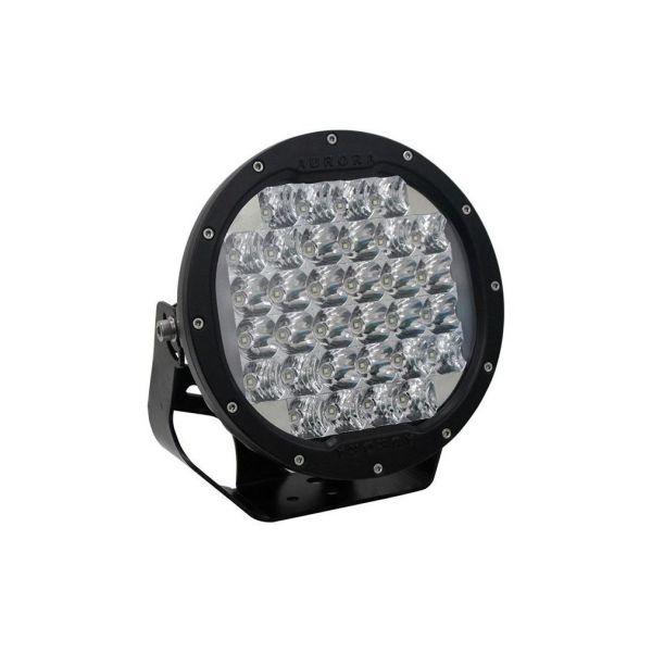Круглая светодиодная фара ближнего света с габаритной подсветкой AURORA 32xOSRAM 96W ALO-R-7-E7BH