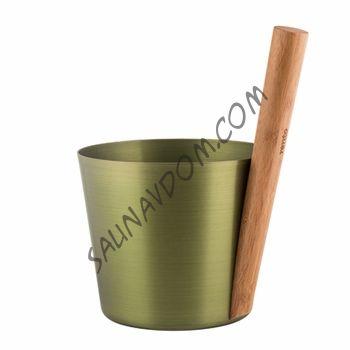 Ведро алюминиевое с бамбуковой ручкой Rento, цвет хвоя