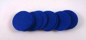 Фетровый пяточек 30мм, 1уп = 200шт, цвет: синий
