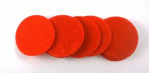 Фетровый пяточек 30мм, 1уп = 200шт, цвет: красный