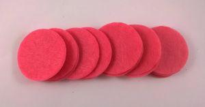Фетровый пяточек 35мм, 1уп = 200шт, цвет: ярко-розовый