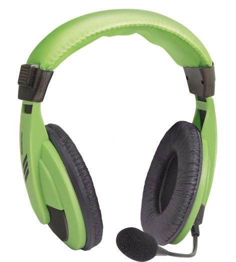 Мониторные наушники с микрофоном Defender Gryphon 750 зеленый, кабель 2 м