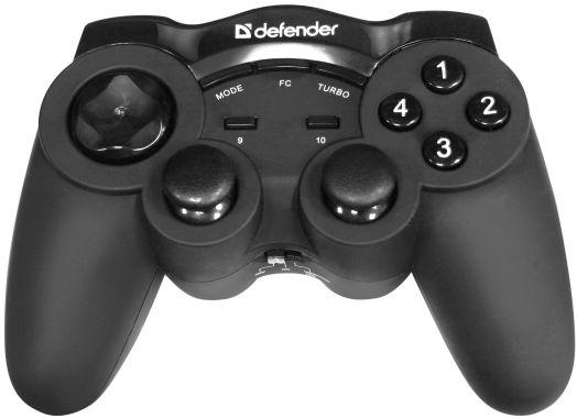 Геймпад Defender Беспроводной Game Racer Wireless G2 USB, радио, 12 кнопок, 2 стика