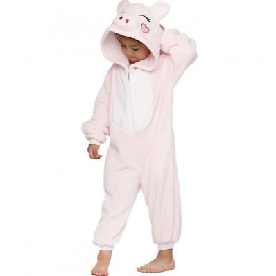 Пижама Кигуруми Детская Свинка Розовая_01