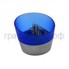 Подставка для скрепок Lerche Metal Base 34506 синяя