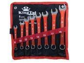 Набор ключей комбинированных 8пр. (8,10,12,13,14,15, 17,19мм) на полотне