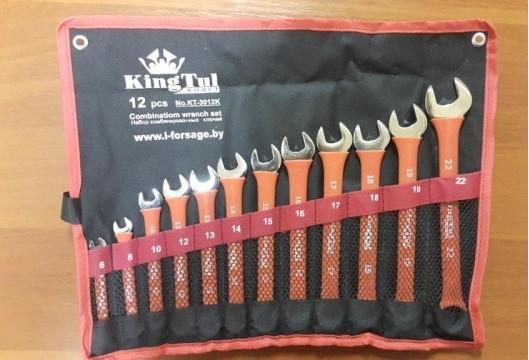 Набор ключей комбинированных 12пр. (6,8,10,12,13,14,15, 16,17,18,19,22мм) на полотне