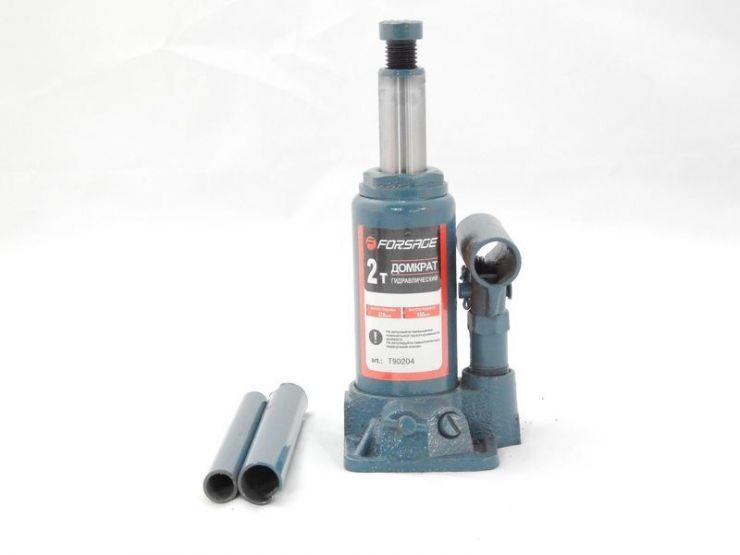Домкрат бутылочный  2 т с клапаном (h min 150мм, h max 278мм,вес 2,6 кг) в кейсе
