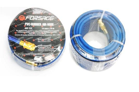 Шланг резиновый воздушный армированный с фитингами 8*14мм*10м