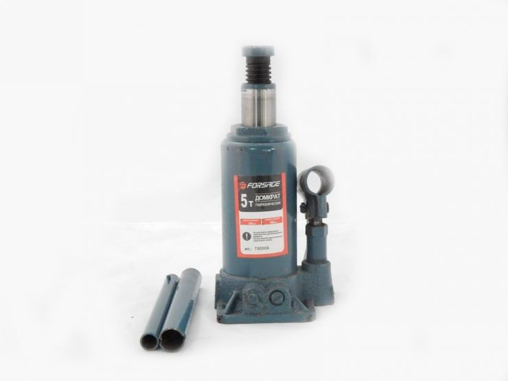 Домкрат бутылочный  5 т с клапаном (h min 185мм, h max 355мм,вес 3,8 кг)