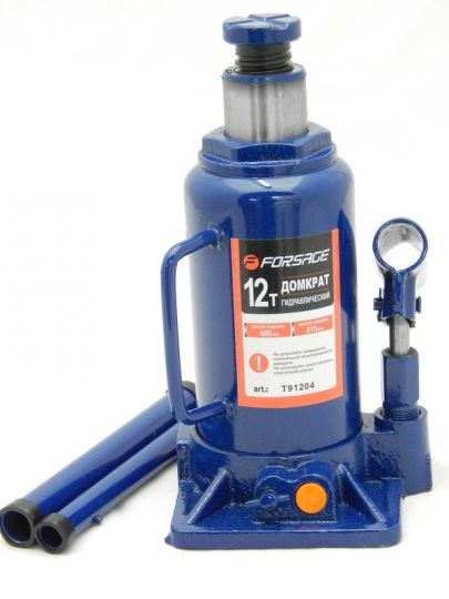 Домкрат бутылочный 12т с клапаном (h min 210мм, h max 405мм)