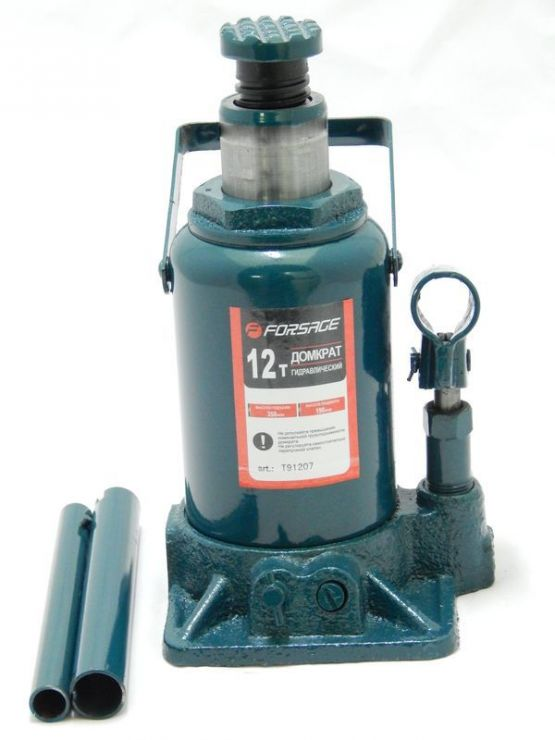 Домкрат бутылочный 12т низкий (h min 190мм, h max 350мм)