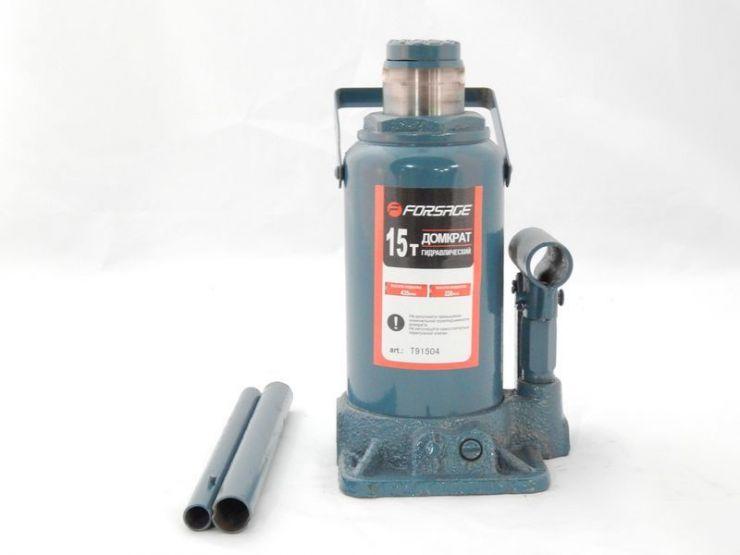 Домкрат бутылочный 15т с клапаном (h min 230мм, h max 460мм)
