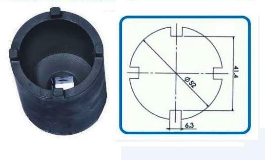 Съемник для выкручивания шаровых опор (1/2', 4 зуб., 52мм) (Peugeot)