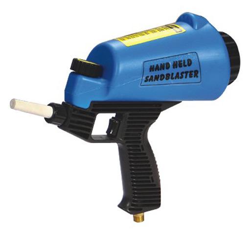 Пескоструйный пистолет со встроенной емкостью для песка 1л