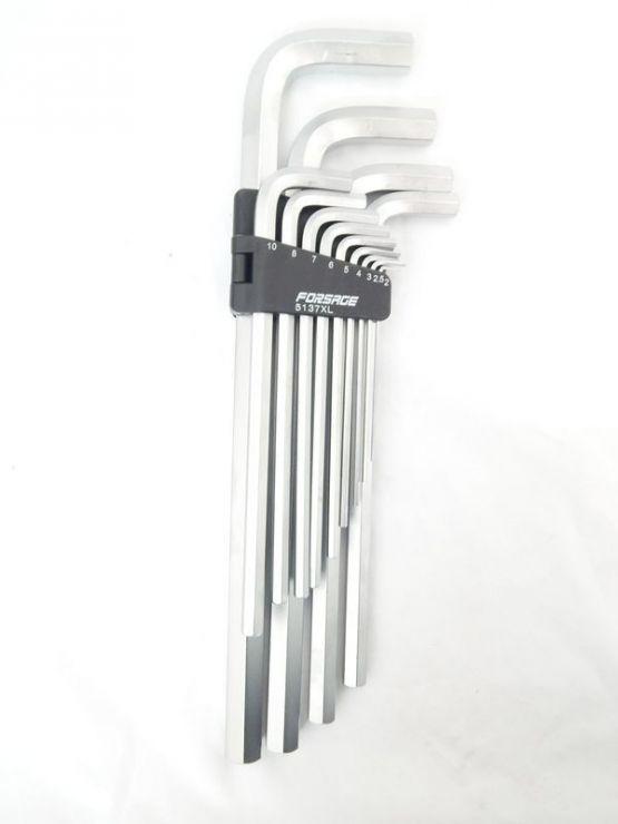 Набор ключей 6-гранных Г-образных экстра длинных 13пр. (2, 2.5, 3-8, 10, 12, 14, 17, 19мм)в пластиковом держателе