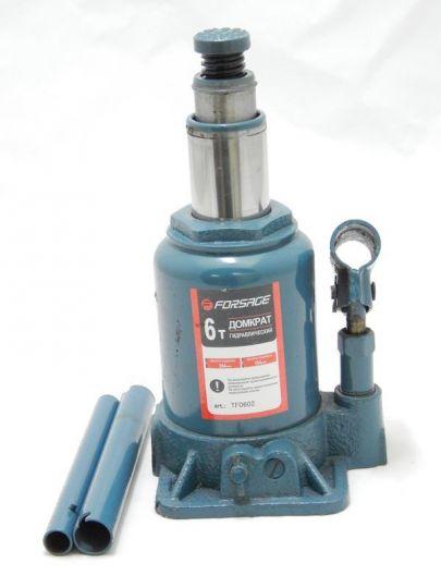 Домкрат бутылочный с двумя штоками,  6т (h min 154мм, h max 354мм)