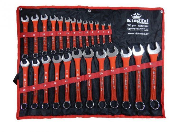 Набор ключей комбинированных 26пр. (6-28, 30, 32мм) на полотне