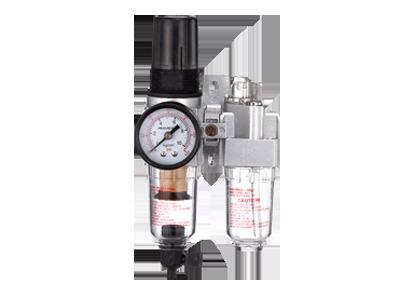 Блок подготовки воздуха (фильтр + регулятор + маслодобавитель) 1/4' Пропускная способность 1100 л/мин