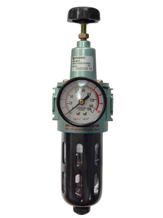 Фильтр тонкой очистки 5Мк с регулятором и манометром для  пневмосистем 3/8'