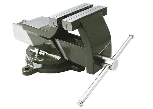 Тиски стальные поворотные с наковальней 150 мм