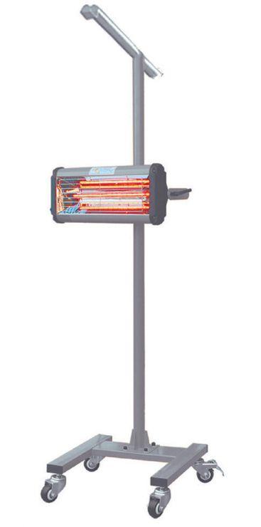 Инфракрасная сушильная установка. Сборная металлическая стойка, с дополнительной верхней горизонтальной перекладиной;   кассета с лампой,  механический таймер,  Мощность: 1 лампа1 х 1000 Вт., 230 В. Площадь нагрева 500мм х 800мм.