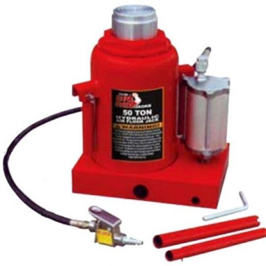 Домкрат бутылочный пневмогидравлический 50т (h min 290мм, h max 450мм)