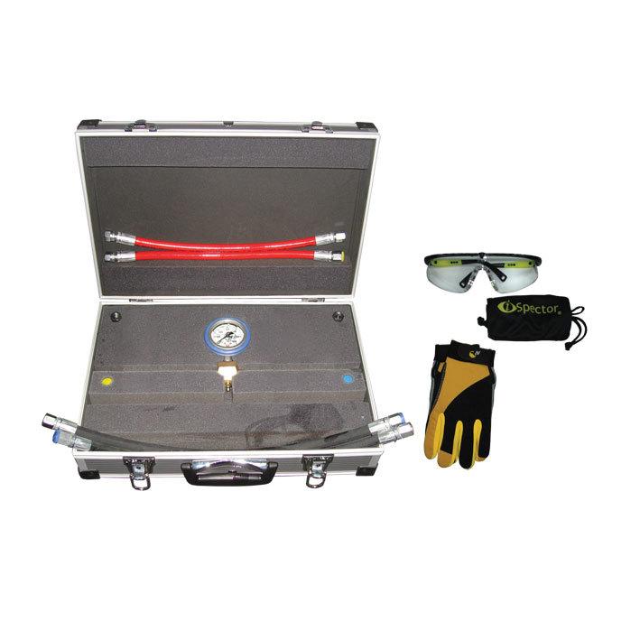 SMC-1005/1000 Предназначен для контроля выходного давления  с максимально развиваемым давлением 1000 Bar. Оснащен высококачественным манометром, диаметром 100  мм в защитном кожухе с гелевым наполнителем. Корпус манометра выполнен из нержавеющей стали. В