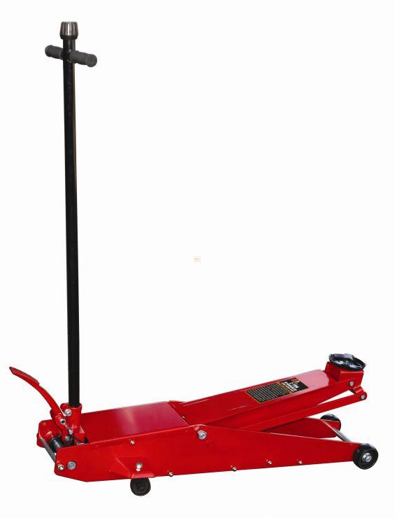 Домкрат подкатной гидравлический длиннобазный, высокого подъёма, г/п 2 т.  Высота: min 140 - max 800 мм. Габариты: 1220х430х200мм. Вес 54кг