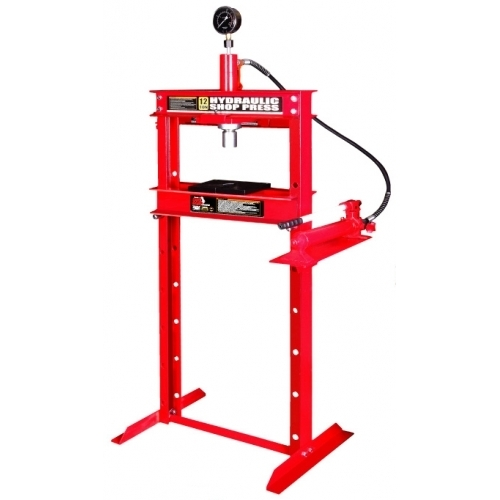 Пресс гидравлический 12т с манометром (ход поршня 175мм,диапазон работ 0-920мм)
