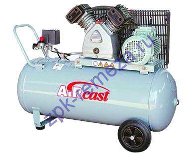 компрессор поршневой 420 л/мин, 10 бар, 2.2 кВт. 380 В, ресивер 100 л.