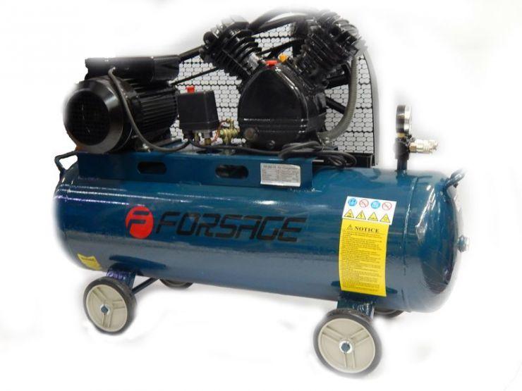 Компрессор 200л  2-х поршневой с  ременным приводом  (5,5кВт, ресивер 200л, 600л/м, 380В)