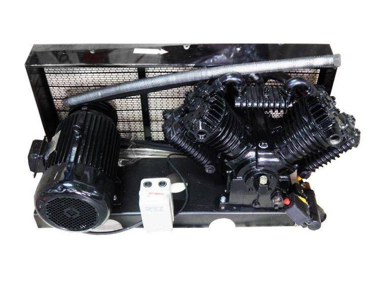 Голова компрессорная на платформе (мотор 7.5кВт,производительность 2000л/мин,650 об/мин.давление 12 бар)