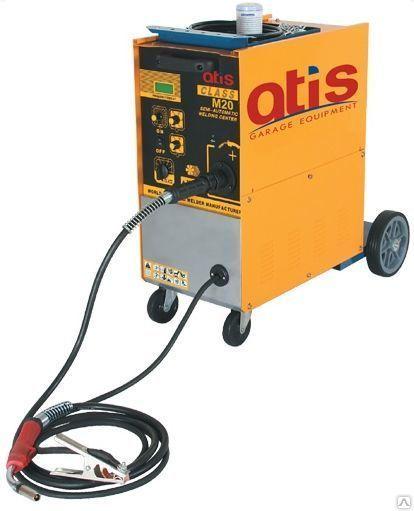 Полуавтоматический сварочный аппарат с горелкой и  кабелем массы для сварки электродной проволокой в среде защитного газа (технология MIG/MAG). Сварка: сталь, нержавеющая сталь, алюминий. Диаметр сварной проволоки  0,8/1,0 мм. 4х роликовый механизм  протя