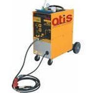 Профессиональный полуавтоматический сварочный аппарат с горелкой , кабелем массы и манометром для сварки электродной проволокой в среде защитного газа (технология MIG/MAG). Сварка: сталь, нержавеющая сталь, алюминий. Диаметр сварной проволоки  0,8-1,0 мм.