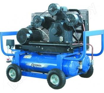 компрессор поршневой передвижной 980 л/мин, 8 бар, 5.5 кВт. 380 В, ресивер 90 л.