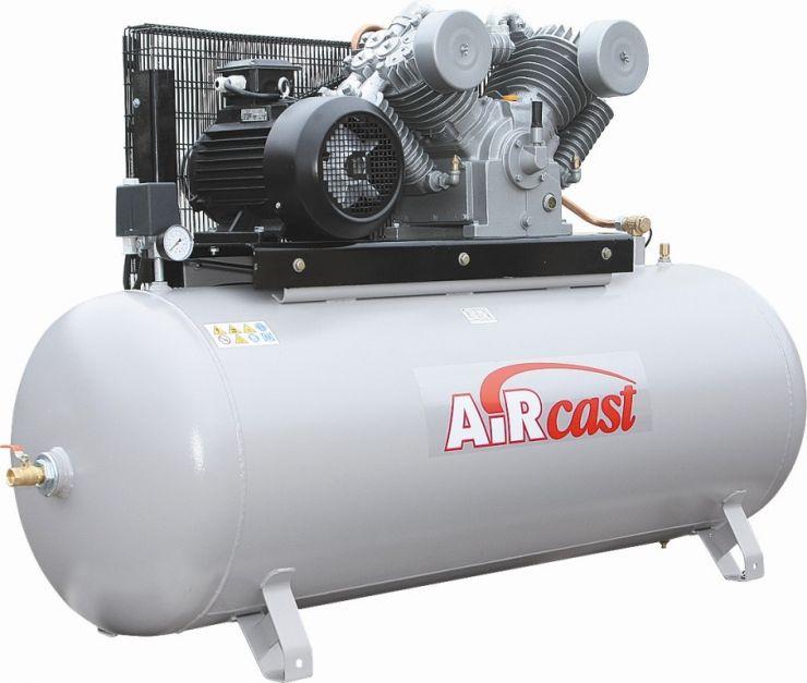 компрессор поршневой 1700 л/мин, 10 бар, 11 кВт. 380 В, ресивер 500 л.