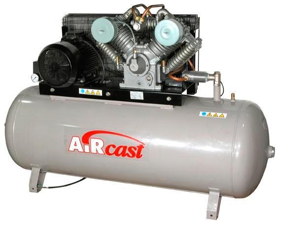 компрессор поршневой 1000 л/мин, 16 бар, 7.5 кВт. 380 В, ресивер 500 л.