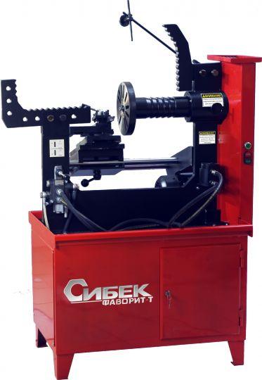 Стенд для правки дисков 'ФАВОРИТ - Т'                                (электрический стенд 380В с гидроприводом,  приводом вала и токарным модулем для правки легкосплавных дисков)
