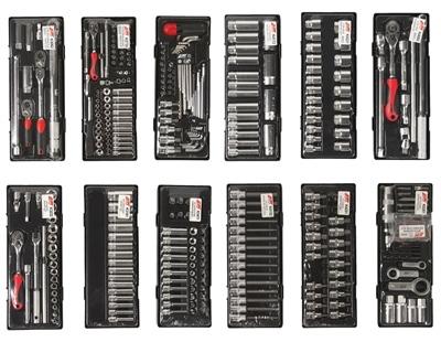 Тележка инструментальная JTC-5641 (8 секций) в комплекте с набором инструментов (496 предметов) JTC /1