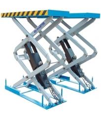 Подъемник пантографный электрогидравлический, встраиваемый в пол, 2 гидроцилиндра, 3 т. Длина платформ 1540-1740мм, ширина платформ 550мм, высота подъема 2030мм.