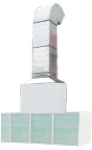 Пост подготовки к окраске с боковым забором воздуха (Без верхнего пленума). Размер наружн.: 6.0*3.5м, Внутр.: 6.0*3.5м. Воздухообмен: 15000 м³; вытяжной вентилятор: 5.5 кВт.