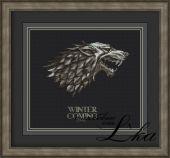 Схема для вышивки крестом Winter Is Coming