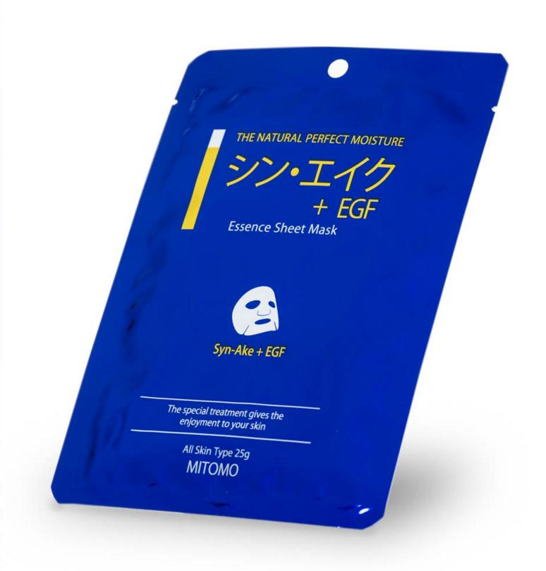 Японская омолаживающая маска для лица Яд змеи + EGF  Mitomo