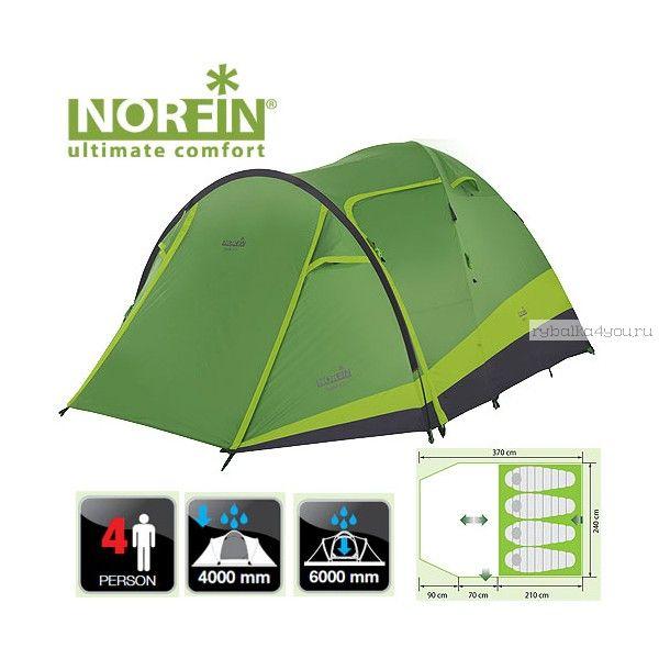 Купить Палатка кемпинговая 4-х местная Norfin RUDD 3+1 Nf10202