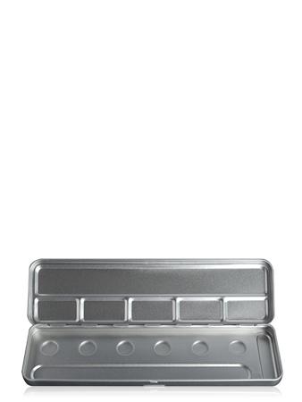 Make-Up Atelier Paris Palette Metal Vide M6C 6 Holes Metal Box Пенал-палитра металлическая для акварели на 6 позиций
