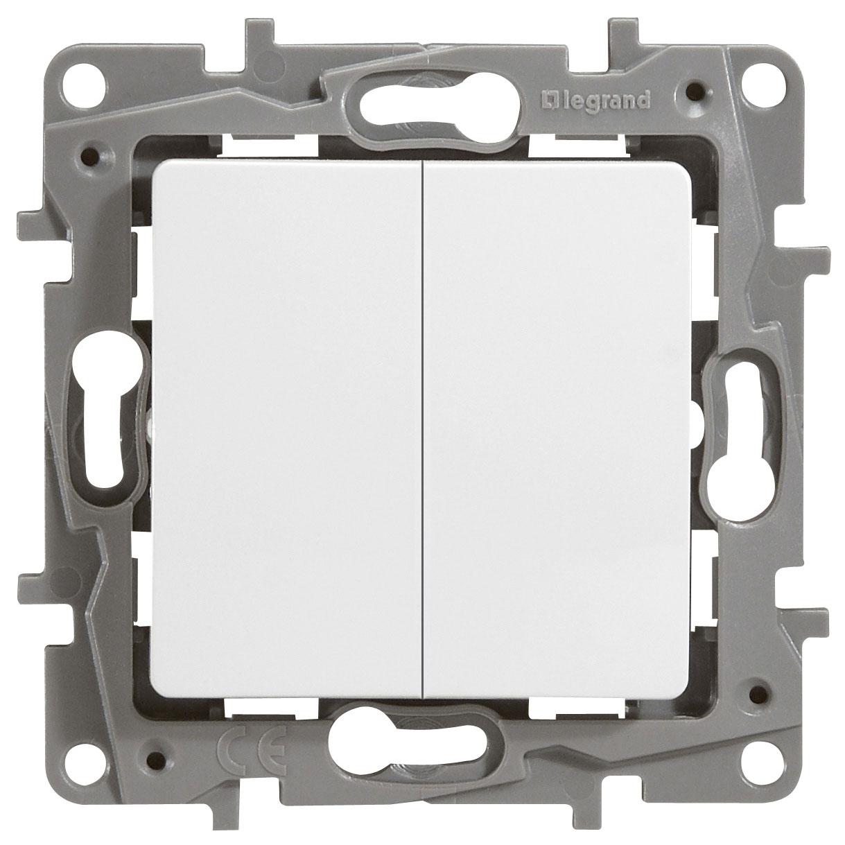 Выключатель Etika P 2-кл 672212 белый
